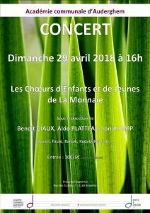 Concert des Chœurs d'enfants et de Jeunes de la Monnaie @ Académie communale d'Auderghem | Auderghem | Bruxelles | Belgique