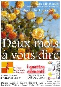 Le Chœur Polyphonia en concert @ Eglise Sainte-Anne | Auderghem | Bruxelles | Belgique