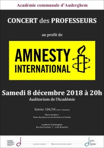 AMNESTY : concert des professeurs au profit d'Amnesty International