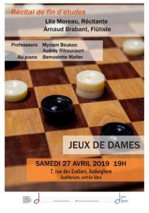 Récital de fin d'études : Flûte Traversière (Arnaud) et Déclamation (Lila)