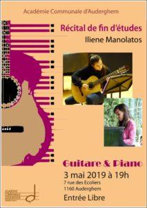 Récital de fin d'études en guitare (Iliène)