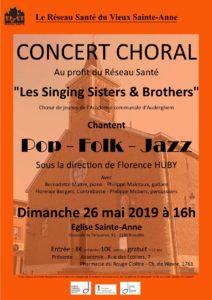 """Les """"Singing Sisters & Brothers"""" chantent au profit du """"Réseau santé du vieux Ste Anne"""" @ Eglise Sainte Anne"""
