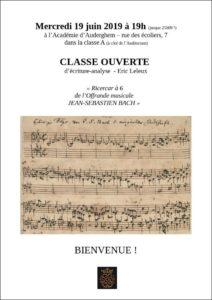 L'offrande musicale de JS Bach