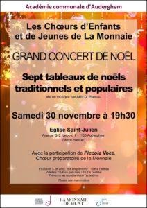 Concert des Choeurs d'Enfants et de Jeunes de la Monnaie @ Eglise Saint-Julien