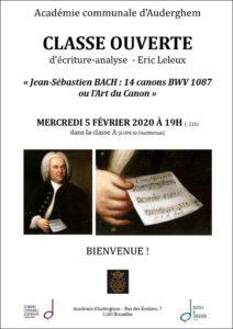 Bach ou l'Art du canon