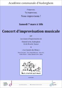 Concert d'improvisation musicale